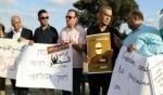 وقفة تضامنية مع الأسرى امام سجن مجيدو