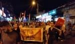 حيفا:مظاهرة حاشدة تضامنا مع الاسرى المضربين عن الطعام