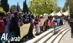 تظاهرة في جامعة تل أبيب تضامنًا مع كفرقاسم