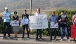 تظاهرة حاشدة على مفرق كفركنا تنديدا باحداث كفرقاسم