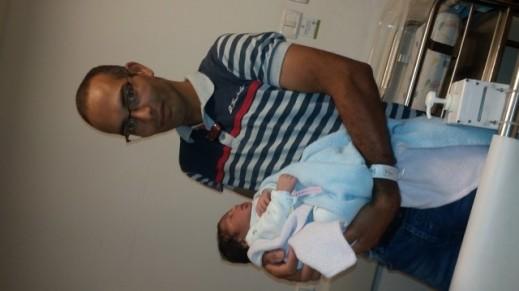 المولودة الجديدة مريم حمدان رشوان من جسر الزرقاء