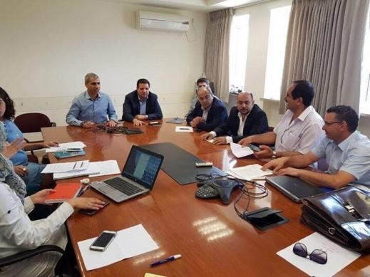 اجتماع عمل مع رئيس قسم الميزانيات في وزارة المالية