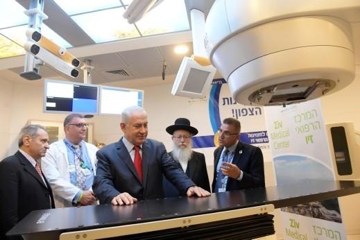 نتنياهو يزور مستشفى زيف في صفد