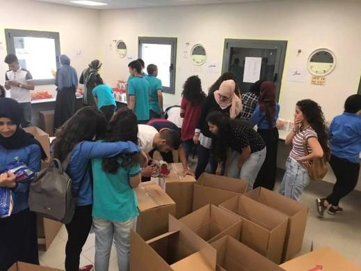 الناصرة: مشروع الطرود الغذائيّة في بيت الحكمة