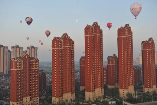 مناطيد في سماء تيانجين  الصينية