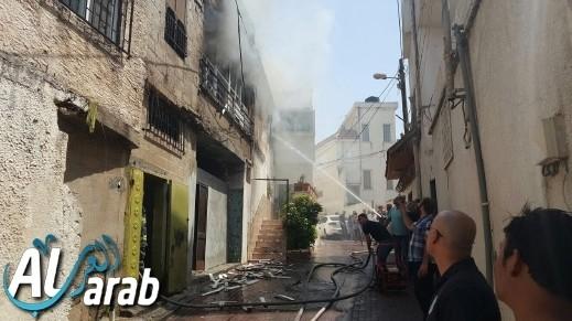 إندلاع حريق في مدينة الطيرة