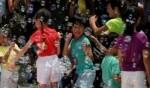 عرض فقاعات الصابون في هونج كونج