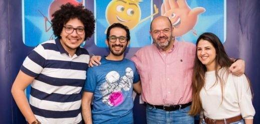 أحمد حلمي يحتفل بعرض The Emoji Movie