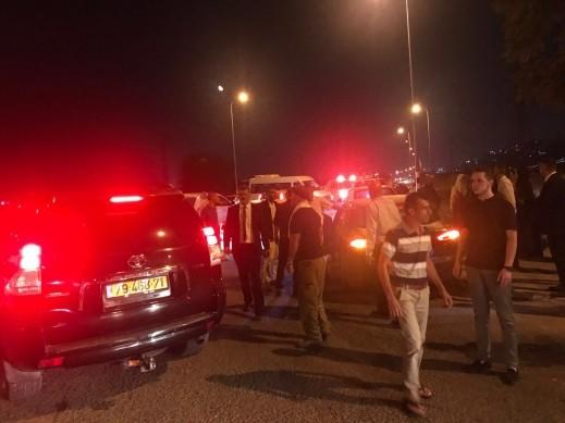 اصابة عدة اشخاص بحادث طرق على مفرق بلدة عيلوط