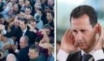 بشار الأسد يؤدي صلاة العيد في القلمون