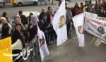 أهالي طرعان يتظاهرون ضد عمل الكسارة