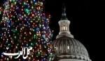 إضاءة شجرة عيد الميلاد في واشنطن