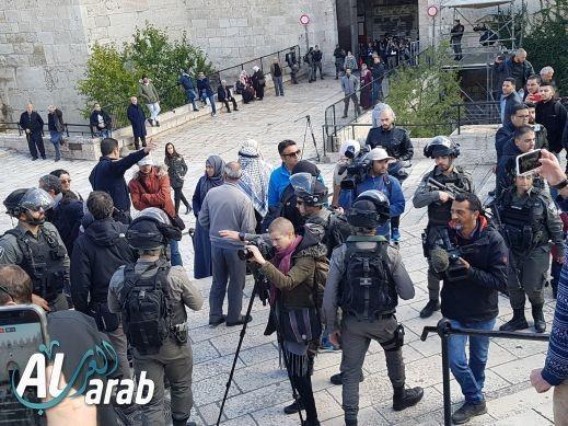 مظاهرة احتجاجية  في باب العامود