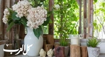 كيف يمكن أن نزيّن منازلنا بالزهور والنباتات؟