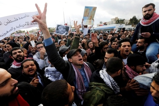تظاهرة في عمان احتجاجا على قرار ترامب
