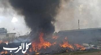 اندلاع حريق قرب المنطقة الصناعية في قلنسوة