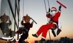بابا نويل يقوم بمهمة غريبة
