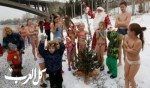 أطفال روسيا بملابس السباحة بين الثلوج