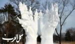تحف فنية مصنوعة من الثلج!