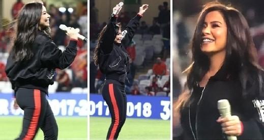 شيرين تشع شبابًا وأنوثة في حفل السوبر المصري