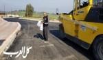 رصف وتعبيد الشارع الرئيسي لمدخل سالم