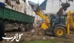 وحدة البيئة في بلدية الناصرة تجري حملة تنظيف