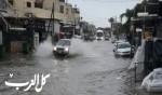 شوارع عديدة في قلنسوة تغرق بسبب الامطار