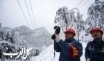 الثلوج الكثيفة في الصين..صور
