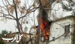 إندلاع حريق داخل شقة سكنية في كريات اتا