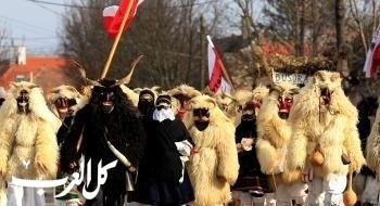 أقنعة غريبة بمهرجان بوسو في المجر