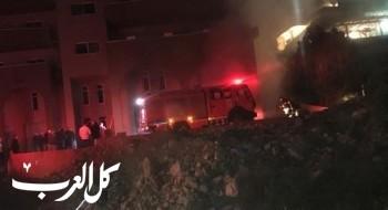 نشوب حريق بمخازن بحي عين خالد بمدينة