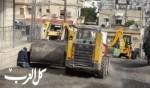 الناصرة: البلدية تبدأ بتعبيد شوارع في جبل حمودة