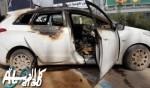 إندلاع النيران داخل سيارة في كفرقرع