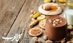 موس زبدة الفول السوداني مع الموز والشوكولاطة