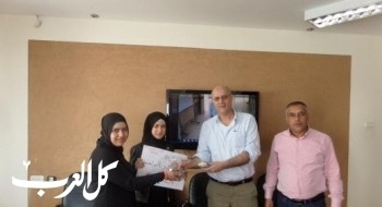 طالبات خديجة ام الفحم يتبرعن للإنقاذ أهل