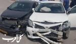 اصابة متوسطة في حادث طرق