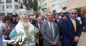 الطائفة الارثوذوكسية في الناصرة تحتفل بعيد البشارة
