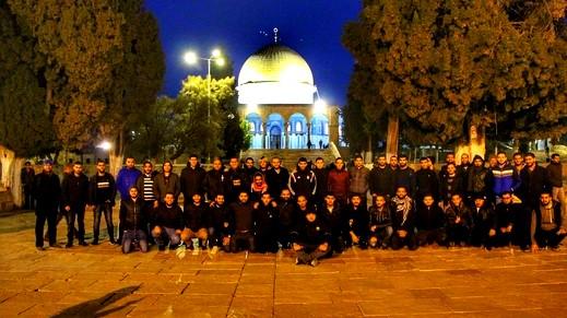 طلاب من جامعة تل أبيب بالمسجد الأقصى