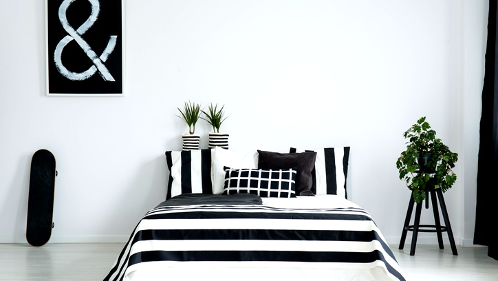 صور: غرف النوم باللونين الأبيض والأسود