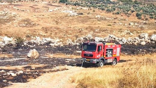 اندلاع حريق كبير في منطقة حرشية في جولس