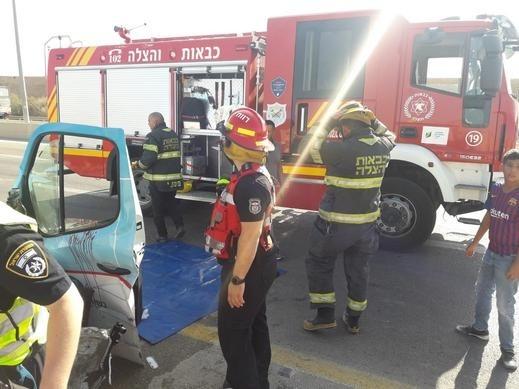 بئر السبع:إصابتان جراء حادث طرق مروع