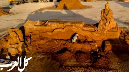 افتتاح مهرجان النحت على الرمال بمدينة أشكلون