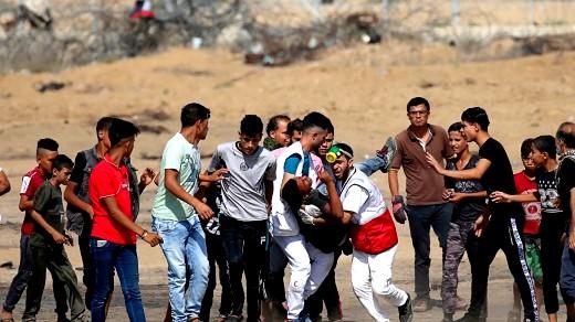 غزة: 55 إصابة برصاص الجيش الاسرائيلي