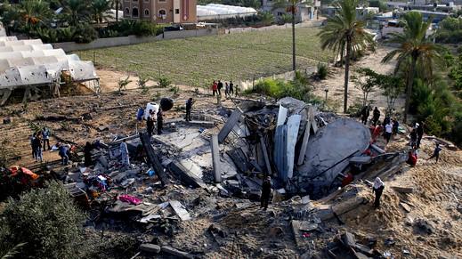 الجيش الاسرائيلي يغير على مواقع في غزة