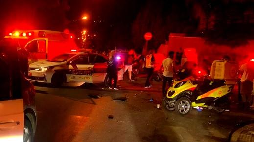 إصابة شاب إثر انقلاب سيارة قرب بيت جن