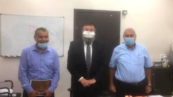 رئيس بستان المرج يجتمع مع نائب وزير الداخلية