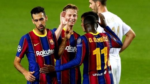 برشلونة يقهر فريق فيرنيكفاروسى المجري بخماسية بدوري ا