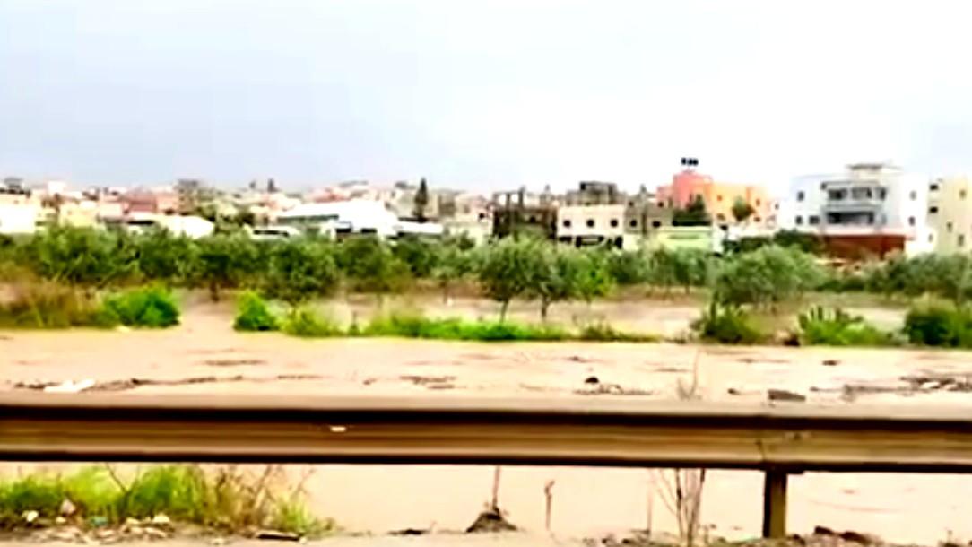 فيضان وادي أبو نتر بين جت وباقة