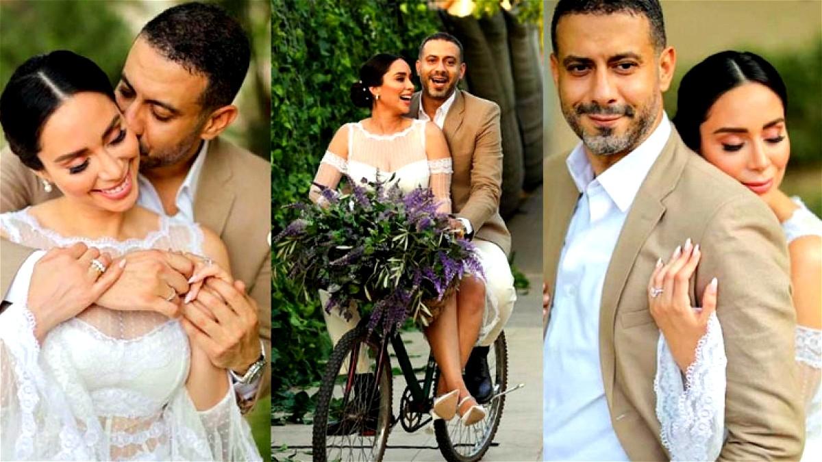 زفاف بسيط لمحمد فراج وبسنت شوقي