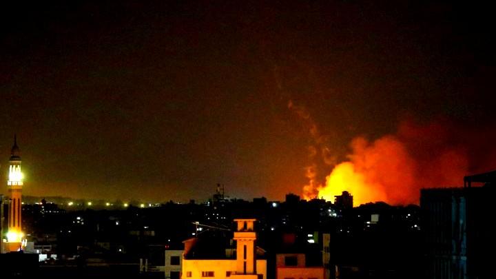قصف إسرائيلي يستهدف مواقعاً للمقاومة في قطاع غزة